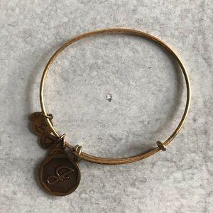 """Alex & Ani """"J"""" Initial Charm Bracelet"""
